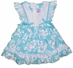 CLOSEOUT Maile Hibiscus Girl's Pinafore Dress