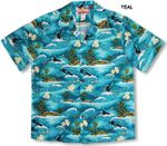 Maui Humpback Whales men's cotton shirt