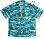 CLOSEOUT Maui Humpback Whales men's cotton shirt