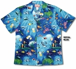 4X Maui Reef Views men's cotton Hawaiian Shirt