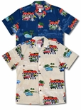 4X and 5X Mel's Diner Drive In men's aloha shirt