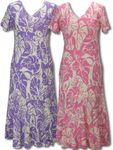 Melodic Tendril Floral Women's Tea Length Dress
