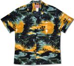 Colorful Island Sunset men's shirt