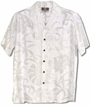 Delicate Tropical men's Wedding White shirt