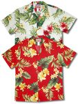 Tropical Summer Hibiscus mens Hawaiian shirt