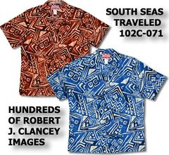7d21ae59 Men's Hawaiian Shirts RJC Robert J. Clancey, Go Barefoot, Pacific Legend,  Chest Band Shirts, Two Palms. All made in Hawaii U.S.A.