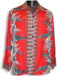 Bird of Paradise Panel Men's Long Sleeve Shirt