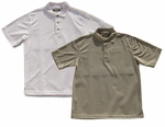 Men's Polo Style Knit Shirt Solid Color Textured Polyester Cubavera Style