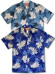 Turtle Tattoo Foliage mens traditional design aloha shirt