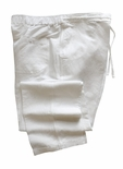 Linen Rayon Blend Wedding White Pants