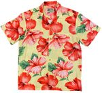 Hibiscus Blossom made in Hawaii Aloha Shirt
