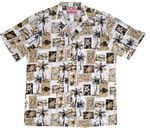 Men's Island Fish Palm Trees Hibiscus aloha shirt