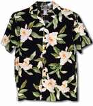White Orchid Maui men's shirt