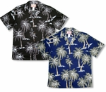 Midnight Coconut Tree Men's aloha Shirt