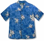 Midnight Orchid white men's Hawaiian shirt