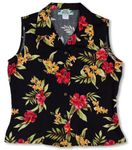 Mini-Hibiscus Womens Sleeveless Blouse