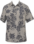 Mini Tahitian Mens Reverse print Pullover cotton Shirt