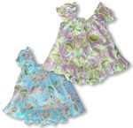 Modern Flower Girl's Puff Sleeve 2pc