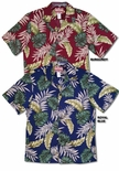 Monstera Fern men's cotton Aloha shirt