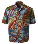 Monstera Fern Storm Men's Aloha Shirt