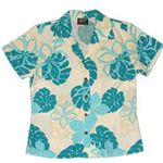 CLOUSEOUT Monstera Season Womens Fitted Blouse