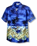 Motorcycle Hawaiian Sunset Boy's Shirt