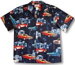 Muscle Cars Road Stop Men's Shirt sizes to 5X