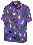 Musical Parrots and Cockatoo Birds Aloha Shirt