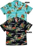 My Little Grass Shack mens, boys matching aloha shirt Hawaii