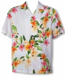 Nadina Plumeria men's Hawaiian shirt