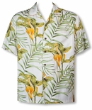 Napali Calla Lily men's Hawaiian shirt