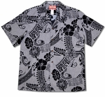 Native Island Symbols men's cotton aloha shirt