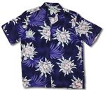 Night Blooming expressional tropical flower aloha shirt