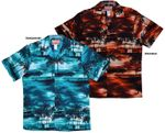 Night Time Surf men's made in Hawaii cotton aloha shirt