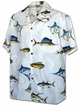 Ocean Fish Display men's Hawaiian Shirt aloha style