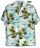 Ocean Island Outriggers men's cotton aloha shirt
