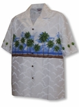 Ocean Palm Trees Men's Chest Band Shirt