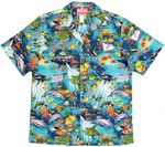 Ocean Reef Marine Life men's cotton aloha shirt