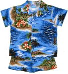 Ocean Waves & Surf boy's made in Hawaii cotton cabana set