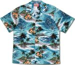 Ocean Waves and Surf men's cotton aloha shirt