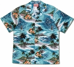 Ocean Waves & Surf men's cotton aloha shirt