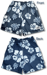 Old School Hibiscus men's & boy's cargo shorts