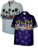 Old Time Woodie Surfboard Boy's Shirt