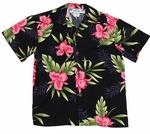 Orchid Fern Boy's Two Palms Label Hawaiian Shirt