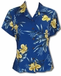 Orchid Fern Womens Fitted Blouse
