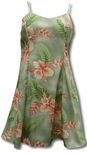 Orchid Heliconia women's empire princess dress