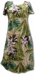 Orchid Jungle A Line Cap Sleeve Dress