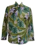Orchid Jungle Men's Long Sleeve Paradise Found Rayon Shirt