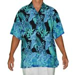 Orchid Patch men's Rainbow Jo rayon shirt