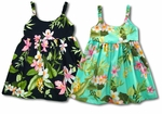 Orchid Plumeria Garden girl's bungee dress